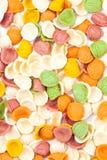 Italiaanse kleurendeegwaren Stock Foto