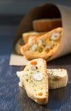 Italiaanse koekjes - biscotti Stock Fotografie