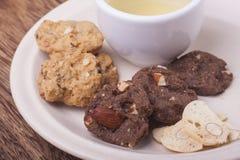 Italiaanse koekjes, biscotti met amandel Stock Foto