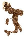 Italiaanse koffie als achtergrond Royalty-vrije Stock Foto