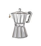Italiaanse koffiezetapparaatschets Royalty-vrije Stock Afbeelding