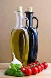 Italiaanse kruideningrediënten Royalty-vrije Stock Foto's