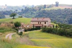 Italiaanse landvilla in Toscanië Stock Afbeelding