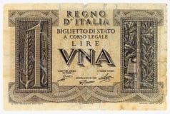 ITALIAANSE LIRES ÉÉN Royalty-vrije Stock Fotografie