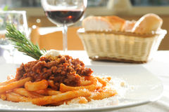 Italiaanse maccheroni Stock Foto