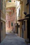 Italiaanse middeleeuwse straat Stock Foto's