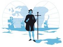 Italiaanse ontdekkingsreiziger en zeeman Christopher Columbus royalty-vrije illustratie