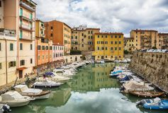 Italiaanse oude stad Livorno Royalty-vrije Stock Fotografie