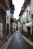 Italiaanse oude stadsstraat Royalty-vrije Stock Foto