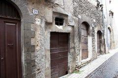 Italiaanse oude stadsstraat Royalty-vrije Stock Afbeelding