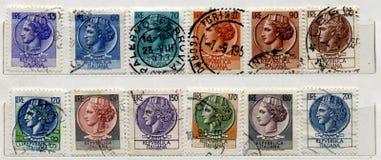 Italiaanse oude Zegels Royalty-vrije Stock Afbeeldingen