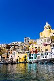 Italiaanse overzeese kust, procida, Napels Stock Afbeelding