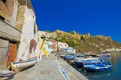 Italiaanse overzeese kust, procida, Napels stock fotografie