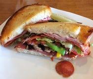 Italiaanse paninisandwich stock foto's