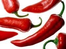 Italiaanse paprika's op witte achtergrond Stock Foto's