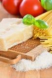 Italiaanse parmezaanse kaaskaas Stock Fotografie