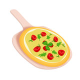 Italiaanse pizza Royalty-vrije Stock Fotografie