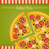 Italiaanse pizza Stock Foto