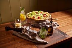 Italiaanse pizza Stock Afbeelding