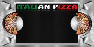 Italiaanse Pizza - Menuontwerp Stock Foto's