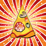 Italiaanse pizzaplak Royalty-vrije Stock Foto's