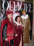 Italiaanse prins Lorenzo Medichi Jr. Grote kostuumbal in Renaissancestijl Royalty-vrije Stock Foto's