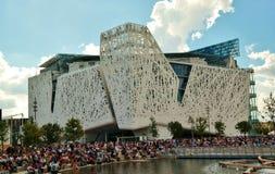 Italiaanse pvilion van Milaan van EXPO 2015 Stock Afbeeldingen