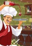 Italiaanse restaurant en staaf Stock Fotografie