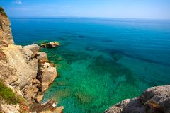 Italiaanse Riviera op Ligurië Royalty-vrije Stock Foto