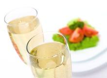 Italiaanse salade met wijn Royalty-vrije Stock Afbeelding