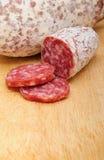 Italiaanse salami Royalty-vrije Stock Foto's