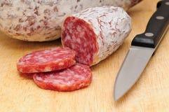 Italiaanse salami Stock Foto