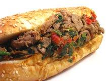 Italiaanse Sandwich Cheesesteak Royalty-vrije Stock Afbeeldingen