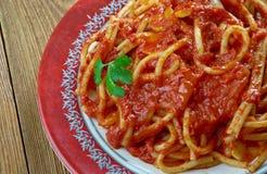 Italiaanse saus van geroosterde tomaten Stock Foto