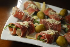 Italiaanse snacks Stock Foto