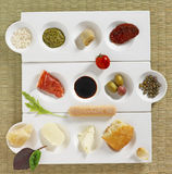 Italiaanse snacks royalty-vrije stock foto's