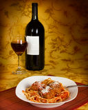 Italiaanse Spaghetti Royalty-vrije Stock Foto's