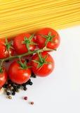 Italiaanse spaghettiachtergrond Stock Afbeelding