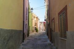 Italiaanse stegen in het zuiden van Italië royalty-vrije stock foto's