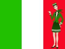 Italiaanse stewardess royalty-vrije illustratie