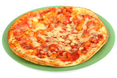 Italiaanse Stijl Margherita Pizza Fast Food Stock Foto's