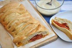 Italiaanse Stromboli Stock Foto's