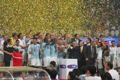 Italiaanse Super Coppa TIM 2009. Inter Milaan versus Lazio stock afbeeldingen