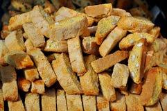Italiaanse traditionele koekjes met amandel het vullen Royalty-vrije Stock Foto