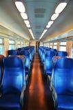 Italiaanse trein en stoelen, Venetië royalty-vrije stock afbeeldingen