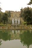Italiaanse tuin met fonteinen Stock Fotografie