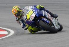 Italiaanse Valentino Rossi van het Team van Fiat Yamaha Stock Afbeelding