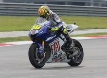 Italiaanse Valentino Rossi van het Team van Fiat Yamaha Stock Afbeeldingen