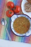 Italiaanse vegetarische linzesoep Royalty-vrije Stock Foto's