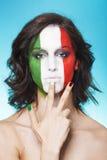 Italiaanse verdediger voor de handgebaar van FIFA 2014 Stock Foto